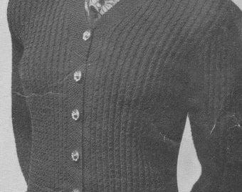 1940s Fanfare Cardigan
