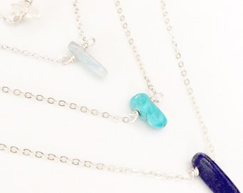 Gemstone Necklace, Turquoise Necklace, Layering Necklace, Everyday Necklace, Everyday Jewelry, Minimalist Necklace, Simple Necklace