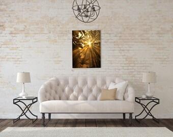Sunset Photography,Sunset Photo,golden sunbeams,Gifts under 25,ethereal art,metallic decor,nature print,dramatic sunrays,digital art print