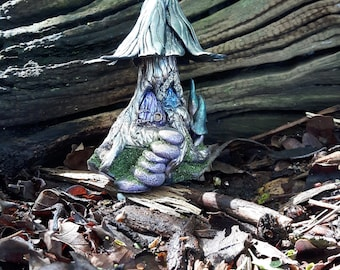 Hand crafted polymer clay fairy tree cottage