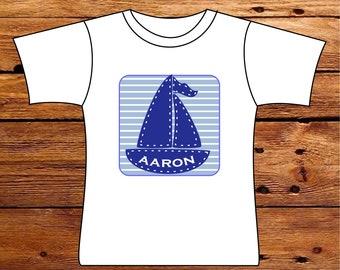 Personalized Sailboat Tshirt