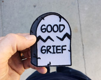 Good Grief Tombstone : Embroidered Patch
