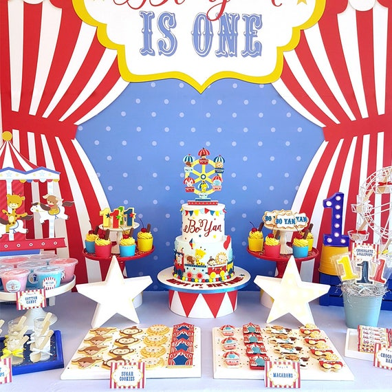 DIGITAL FILE Party Kit Carnival Animals Decorations Party Kit