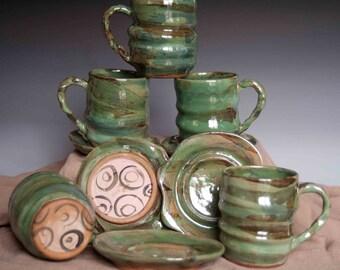 Mug and Saucer Set for Five