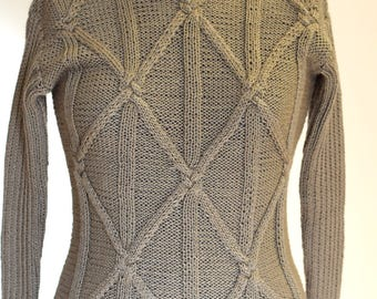 Hand Knit Sweater, size XS, Sweater, Handmade Sweater, Knit Pullover, Wool Sweater, Womens Clothing, Warm Sweater, Knitted Sweater, Clothing