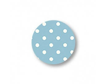 Button, fabric, round, 15mm, polka dots