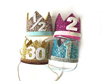 Design Your Own Glitter Crown || Bachelorette Crown || 21st, 30th, 40th, 50th Birthday || Girl Birthday Crown || First Birthday Crown