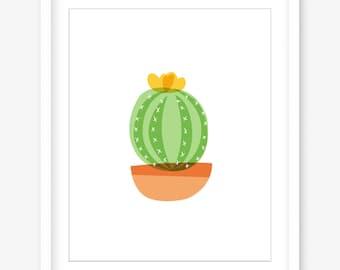 Cactus printable art - downloadable cactus wall print - cactus print - on trend wall art - succulent - printable cactus - PRINTABLE POSTER