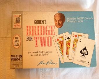 Goren's Bridge for Two Milton Bradley Company 1964