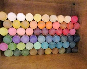 New/Used 60 bottles of Ceramcoat Acrylic paint