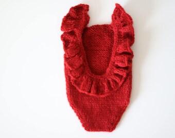Newborn valentine - Newborn romper - Baby girl props - Photo props - Newborn girl - Baby photo prop - Newborn baby photo - Red - Baby girl