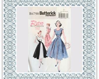 Butterick 4790 (2006) Misses' Retro 1952 wrap dress - Uncut Sewing Pattern