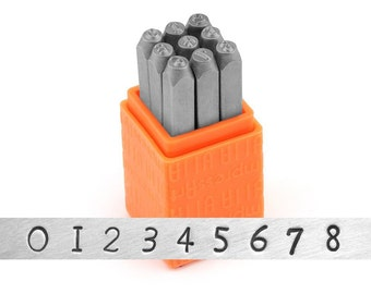 ImpressArt 3mm Newsprint Numbers, Metal Stamp Set, Basic Metal Stamps, For Soft Metals