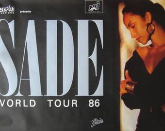 Original Large French 1986 Sade World Tour Poster
