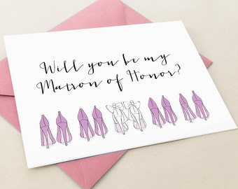 Matron of Honor Card, Will you be my Matron of Honor Card