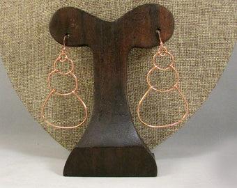 copper wire bubble earrings
