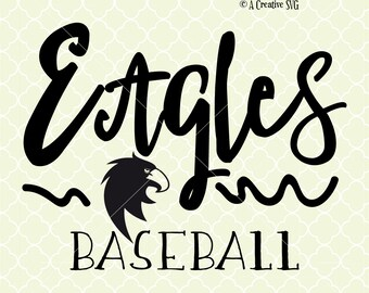 Eagles Baseball SVG DXF Files for Cricut Design, Silhouette studio.