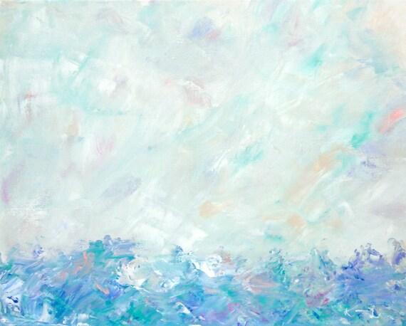 Paysage peinture soft minimaliste d 39 art abstrait couleurs for Oeuvre minimaliste