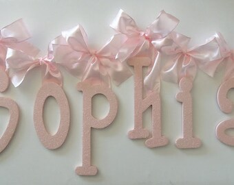 GLITTER and SPARKLE Glitter Wall Letters