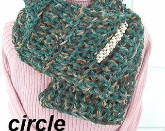 107... CROCHET pattern... Circle Scarf, wear it many ways.  Crochet for Beginners. Instant Download