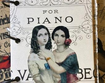 Vintage indésirable JOURNAL - modifié livre ART - journal intime tous Original Antique Vintage Ephemera - pages de journalisation mixte trouvé papier-