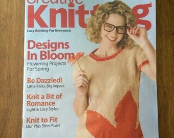 Creative Knits March 2011 with over 24 Spring knitting patterns and projects