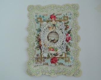 Victorian Valentine, Rose garden, Gardener, Hand crafted, Beautiful detail work, Vintage, Antique