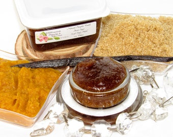 Natural Pumpkin Vanilla Brown Sugar Scrub Body Polish - 2 Oz - Pumpkin Vanilla Brown Sugar Scrub - Softening - Moisturizing - Anti Aging