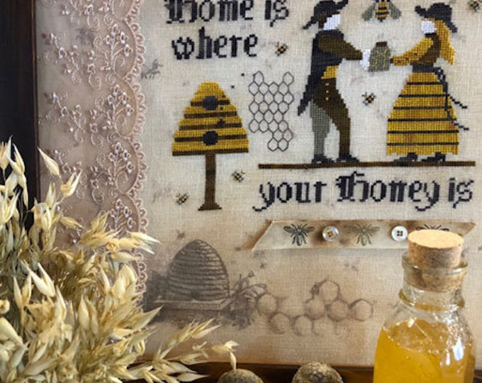 Pattern: Honey  A Cross Stitch Chart by The Primitive Hare