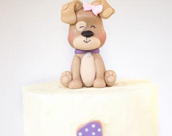 Puppy cake Topper