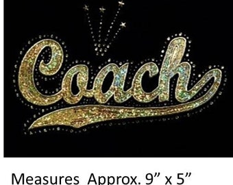 CLOSEOUT SALE Coach Sequins and Rhinestone Transfer Applique ONLY