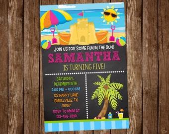 Beach Birthday Invitation (BE05)