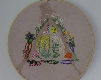Deathly Herbology Embroidery
