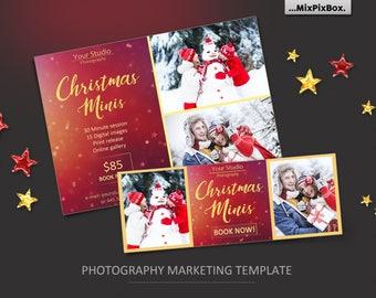 Christmas minis, mini session, Christmas, facebook, template, santa mini session, santa, photoshop template, winter, facebook, timeline