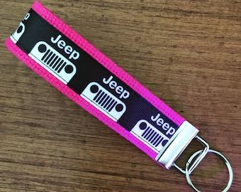 JEEP Key FOB, JEEP Key Chain, Key Holder, KeyFob Wristlet Keychain, House Keys, Accessories,
