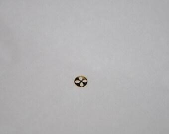 Print 4 PETALS minimalist 8 mm gold plated