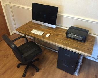 Rustic Reclaimed Scaffold board office desk/study 5 X 2 (other sizes available)