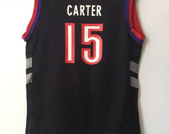 vintage vince carter toronto raptors champion jersey boys size small 6/8 deadstock NWT 90s LAST ONE