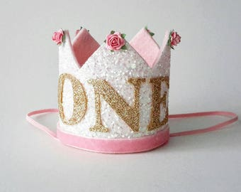 First Birthday Outfit Girl, Birthday Crown, First birthday crown, 1st Birthday girl outfit, Cake smash, 1st Birthday hat, Birthday Hat
