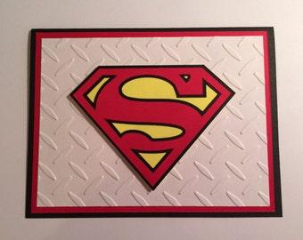 Handmade Superman Birthday Card