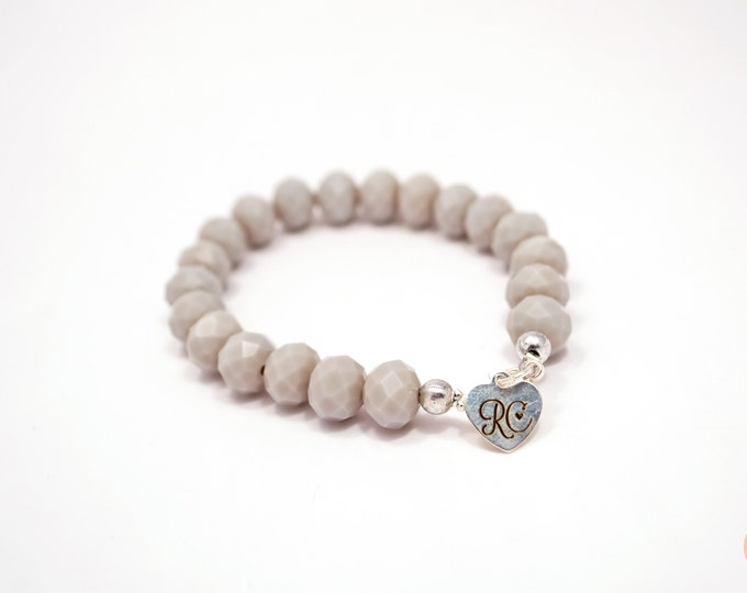 RC Signature Bracelet in Light Grey.