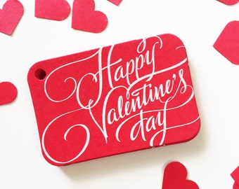 Love Tags, Valentine's Day Favor Tags, Happy Valentine's Day Tags, Treat Bag Hang Tags (RR-326R)