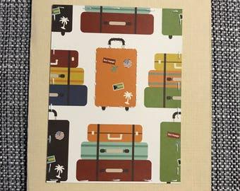 Travel // Adventure // Suitcase // Handmade // Card
