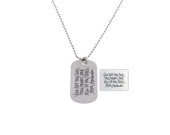 Handwriting Necklace, Gifts for Men, Gifts for Dad, Fathers Day, Deployment Gift, Anniversary Gift, Handwriting, Memorial Gifts, Memorial