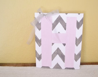 Chevron children's fingerprint keepsake kit  11x14