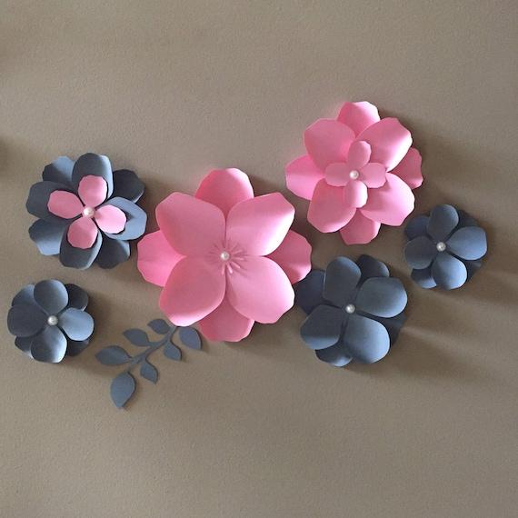 Paper flower hydrangea diy paper flower pdf and svg mightylinksfo