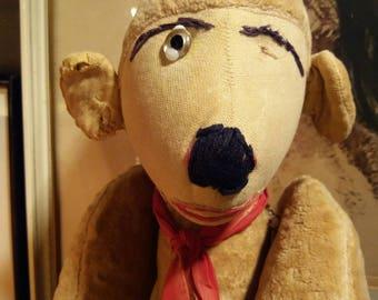 An unusual Vintage stuffed toy Monkey
