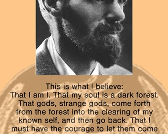 D.H. Lawrence Quote Poster - This is what I believe