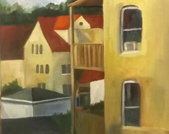 Oil painting in alla prima