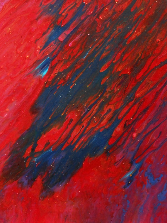 Letting Go #1, Acrylic Abstract Painting, 11x14, Unframed